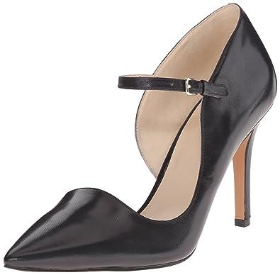 Nine West Women's Jennelle Leather Dress Pump, Black, ...