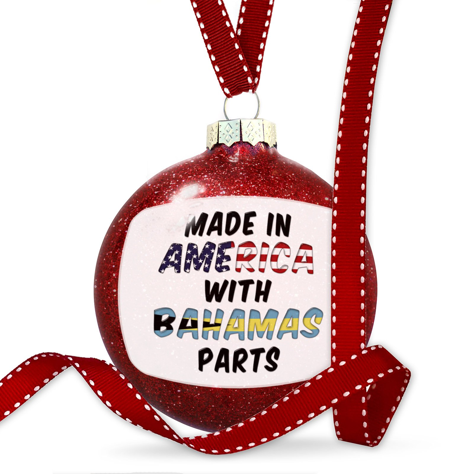 Christmas Decoration Made in America with Parts from Bahamas Ornament