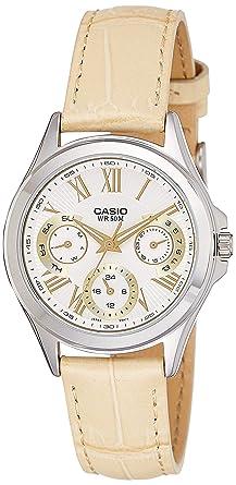 Casio Ltp-e308l-7a1 Reloj Analogico Para Mujer Caja De Metal Esfera Color Plateado: Amazon.es: Relojes