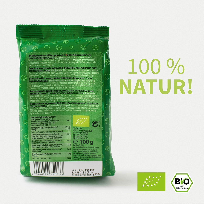 Mundo Feliz - Nueces pecanas ecológicas, 5 bolsas de 100 g: Amazon ...