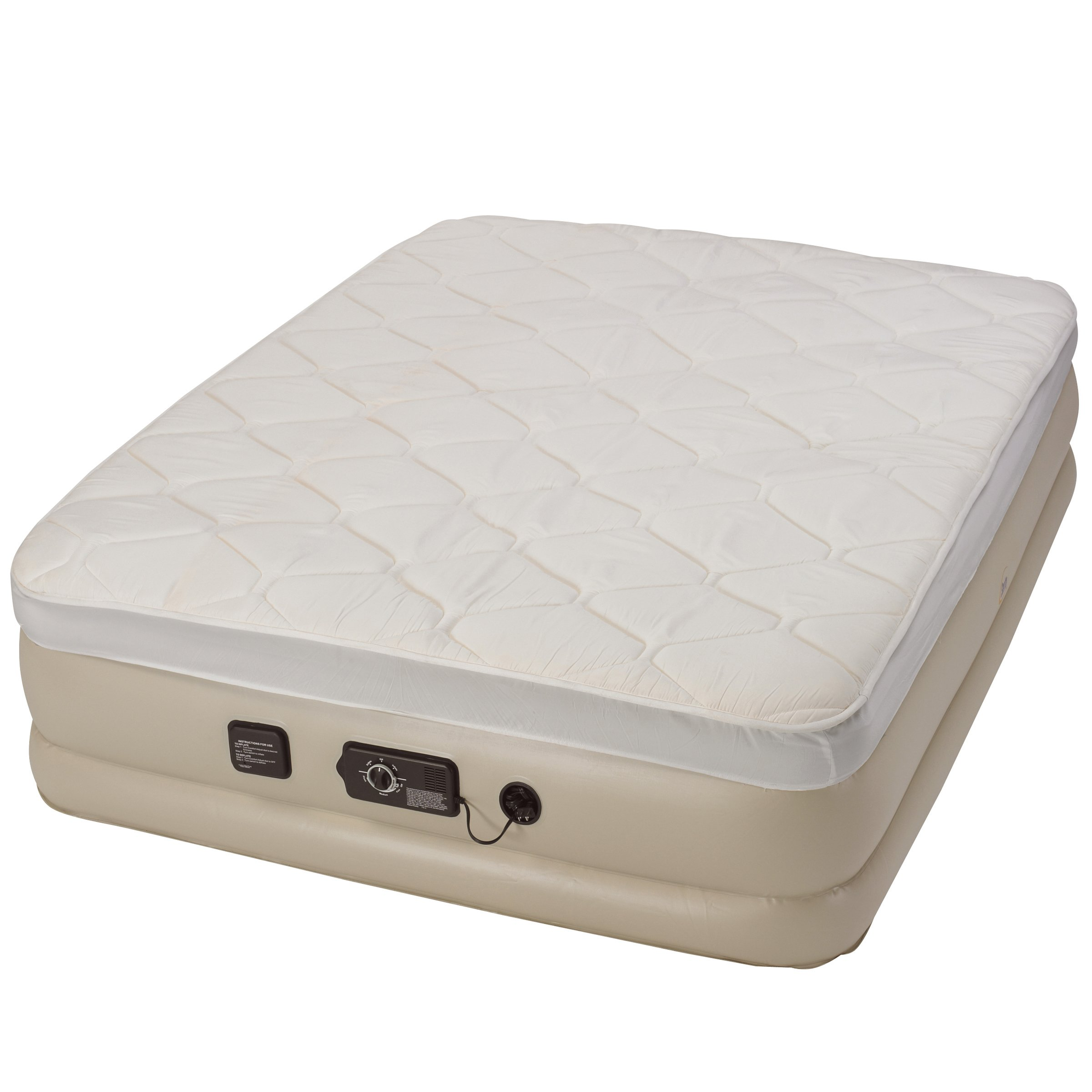 Serta Raised Queen Pillow Top Air Mattress with Never Flat Pump