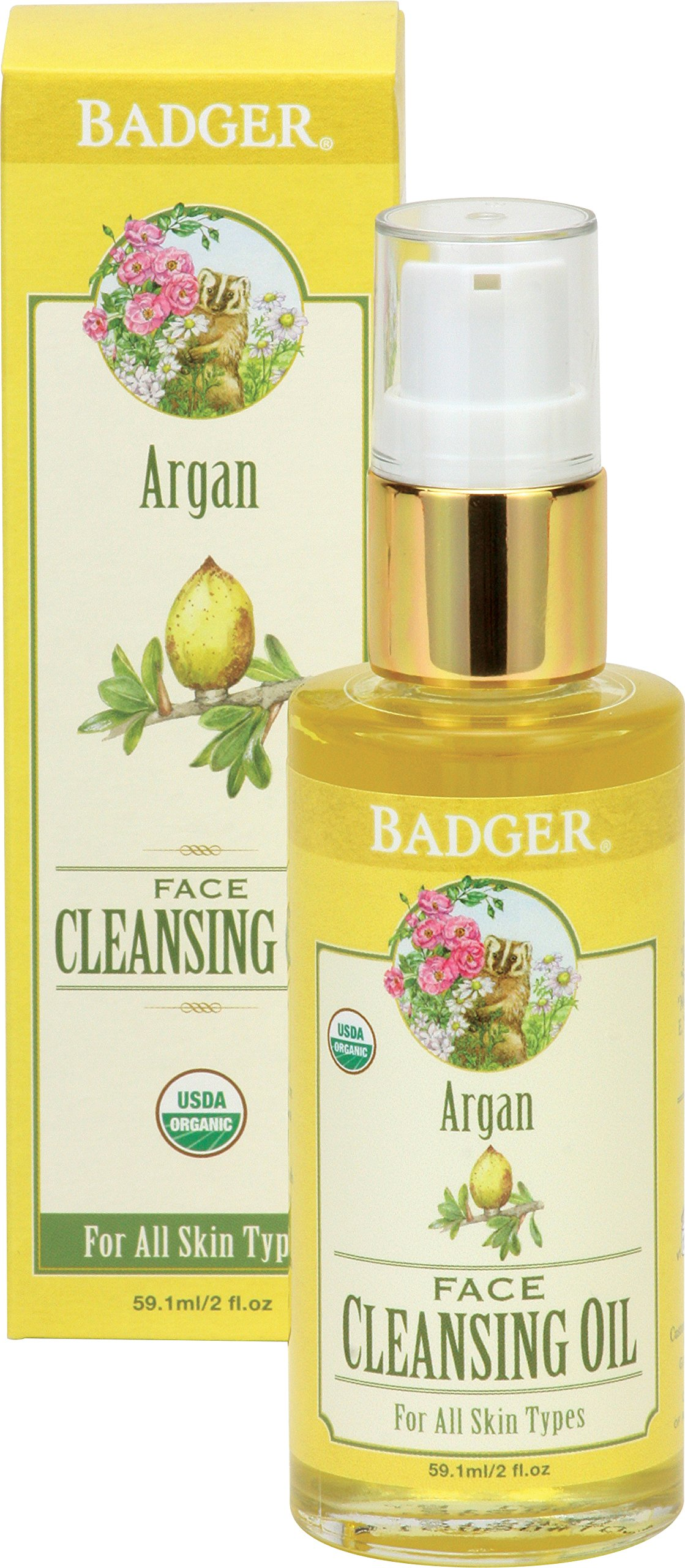 Badger Company, Argan Face Cleansing Oil, For All Skin Types, 2 fl oz (pack of 6) Burts Bees Island Lip Balm with Passion Fruit, 0.15 OZ