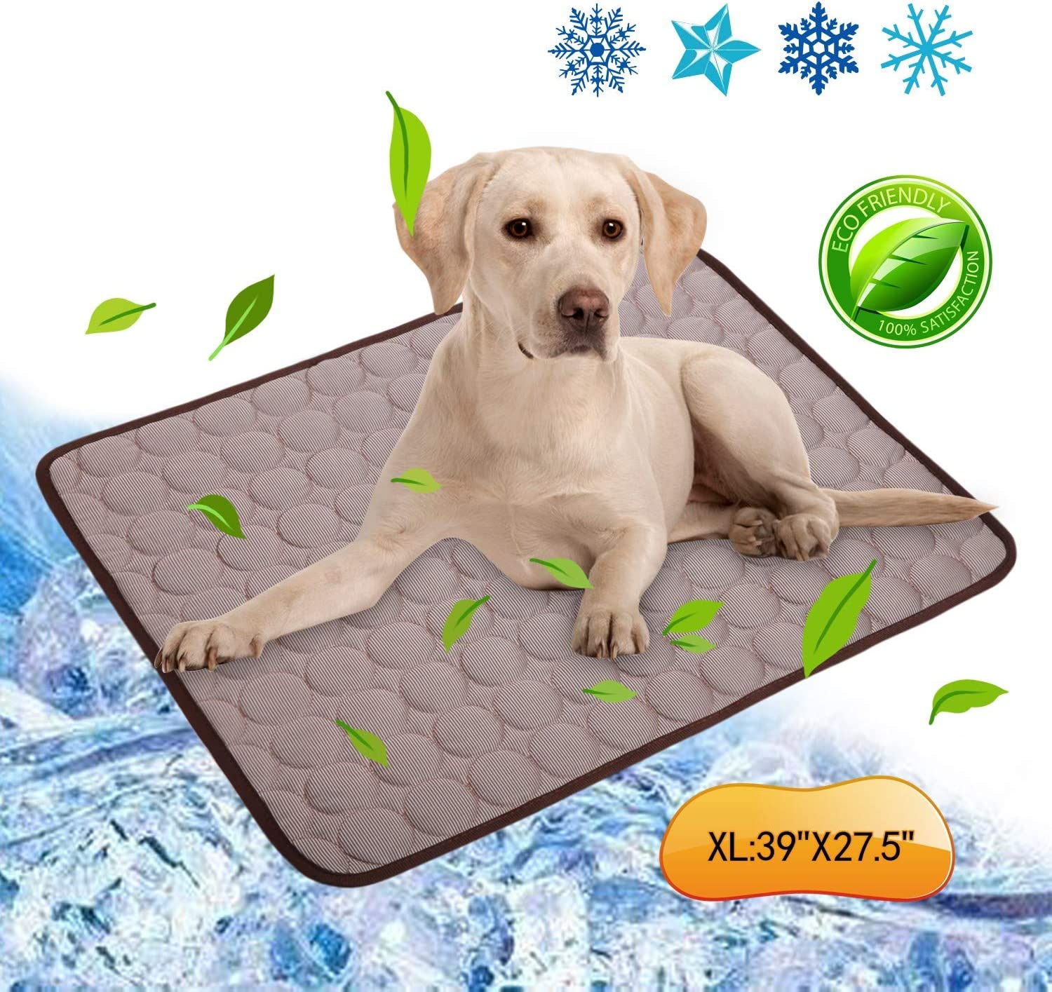 Kama Pet Cooling Mat, Self-Cooling Pad for Dogs Cats Summer Sleeping Mat Bed Liner for Small Medium Large Dogs