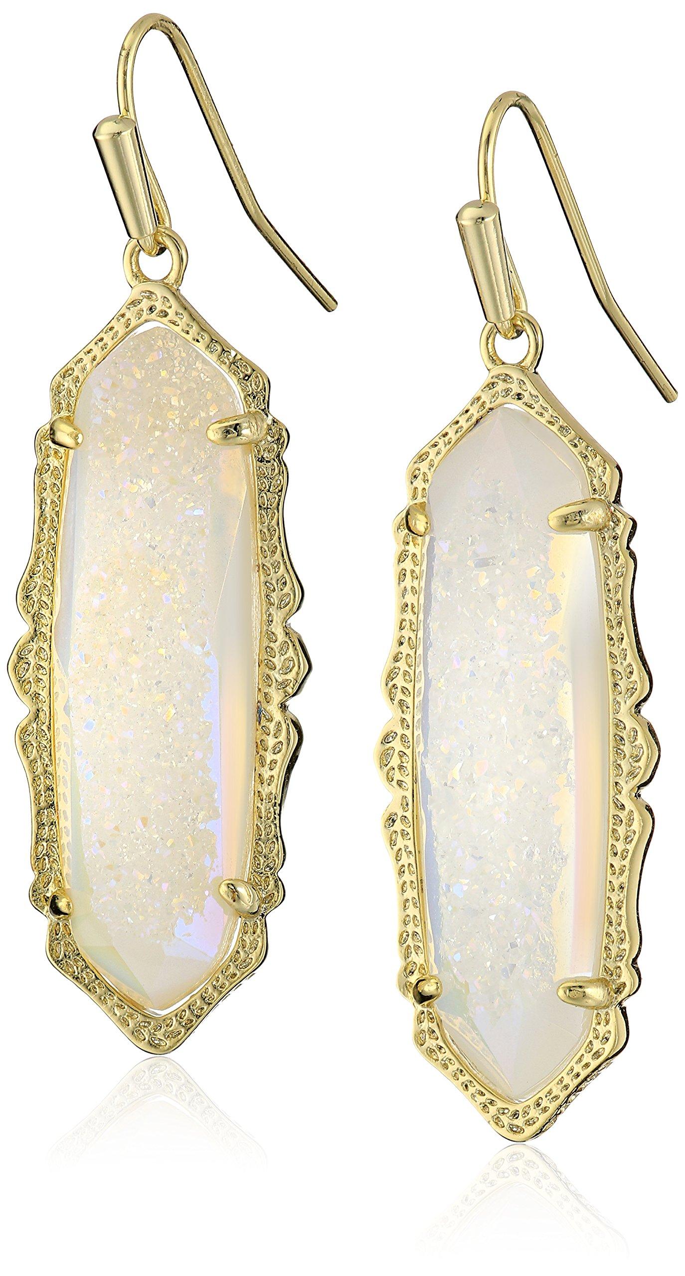 Kendra Scott ''MysticBazaar'' Gold Iridescent Drusy Fran Drop Earrings