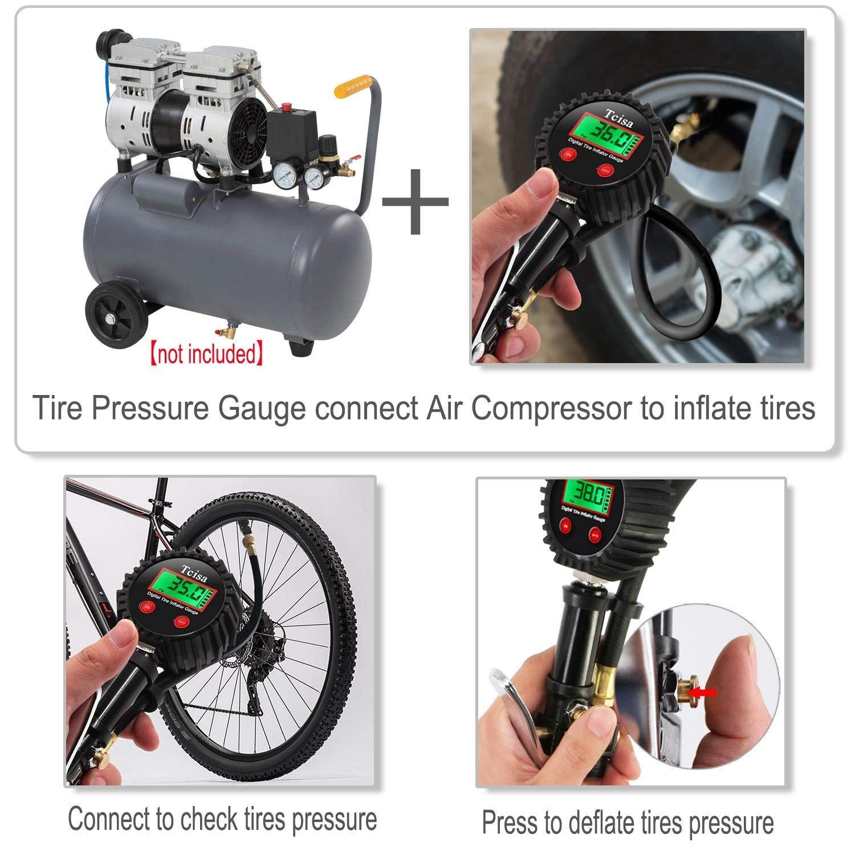 Amazon Com Tcisa Tire Inflator With Pressure Gauge Digital Heavy