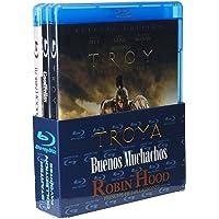 Paquete: Troya + Buenos Muchachos + Robin Hood: El Principe de los Ladrones [Blu-ray]