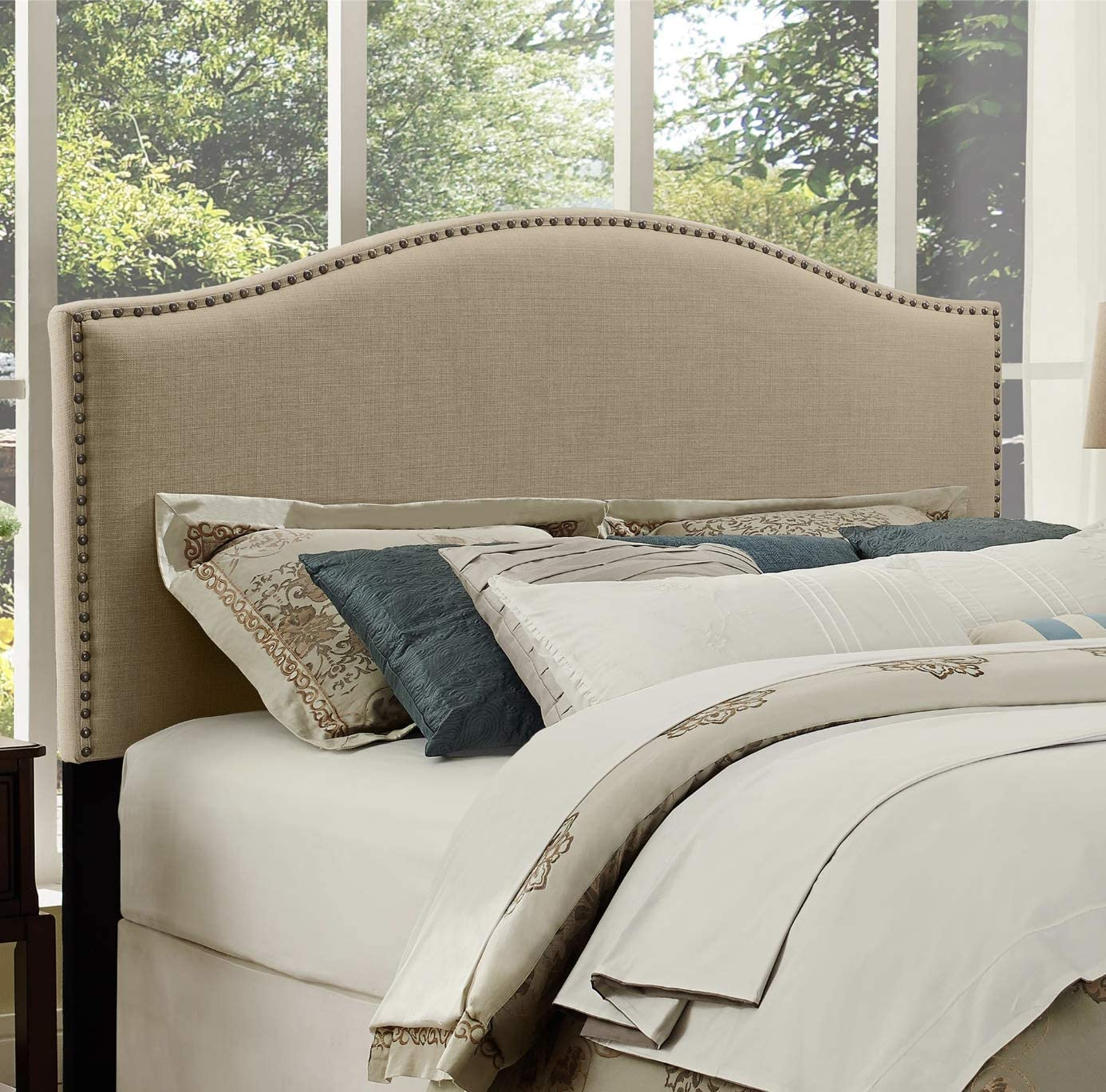 Amazon Com Better Homes And Gardens Grayson Linen Headboard With