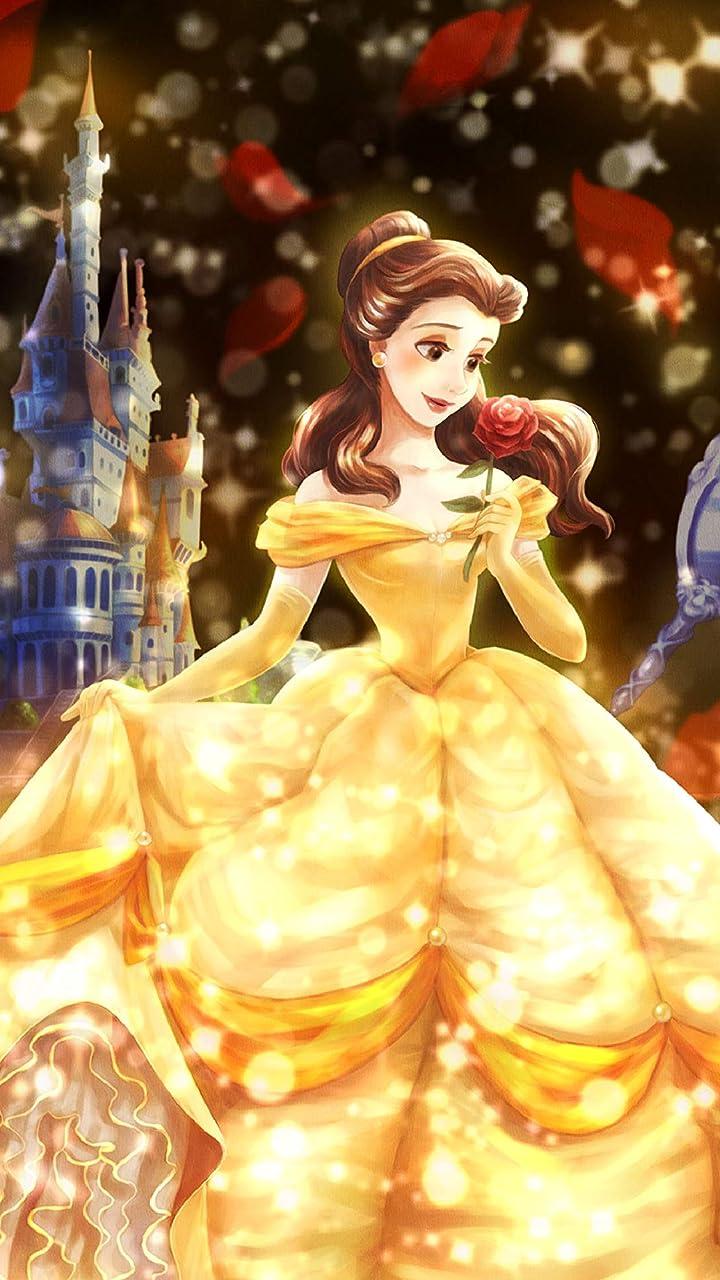 ディズニー 愛が照らす物語(ベル) HD(720×1280)壁紙画像