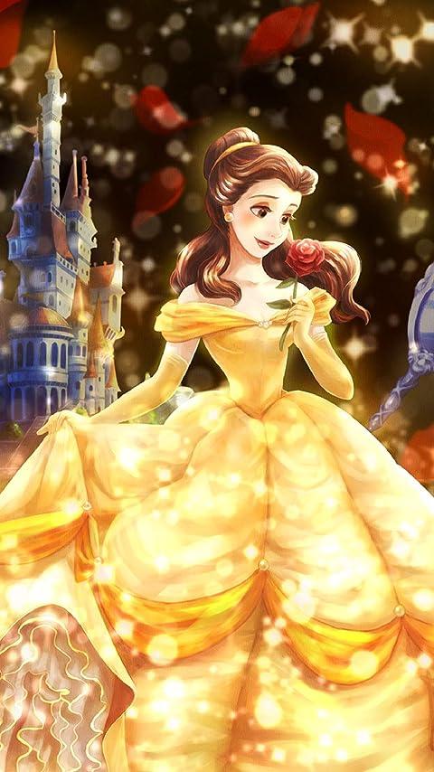 ディズニー 愛が照らす物語(ベル) XFVGA(480×854)壁紙画像