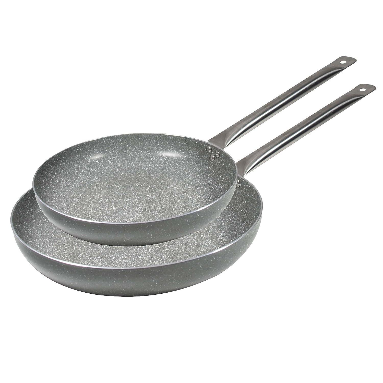 Bergner Masterpro Prochef Sartén, Aluminio, Gris, 28 cm, 2 Unidades: Amazon.es: Hogar