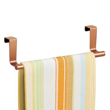InterDesign Forma Over-the-Cabinet Kitchen Dish Towel Bar Holder - 9 , Copper