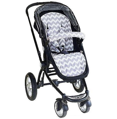 bambella Reversible cochecito/carrito/cochecito asiento Insertar Liner – gris Chevron. Agua absorbente
