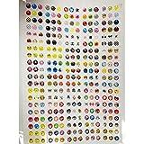 SODIAL(R) 300 x autocollant pour bouton Home pour iphone4/4s/5 ipad