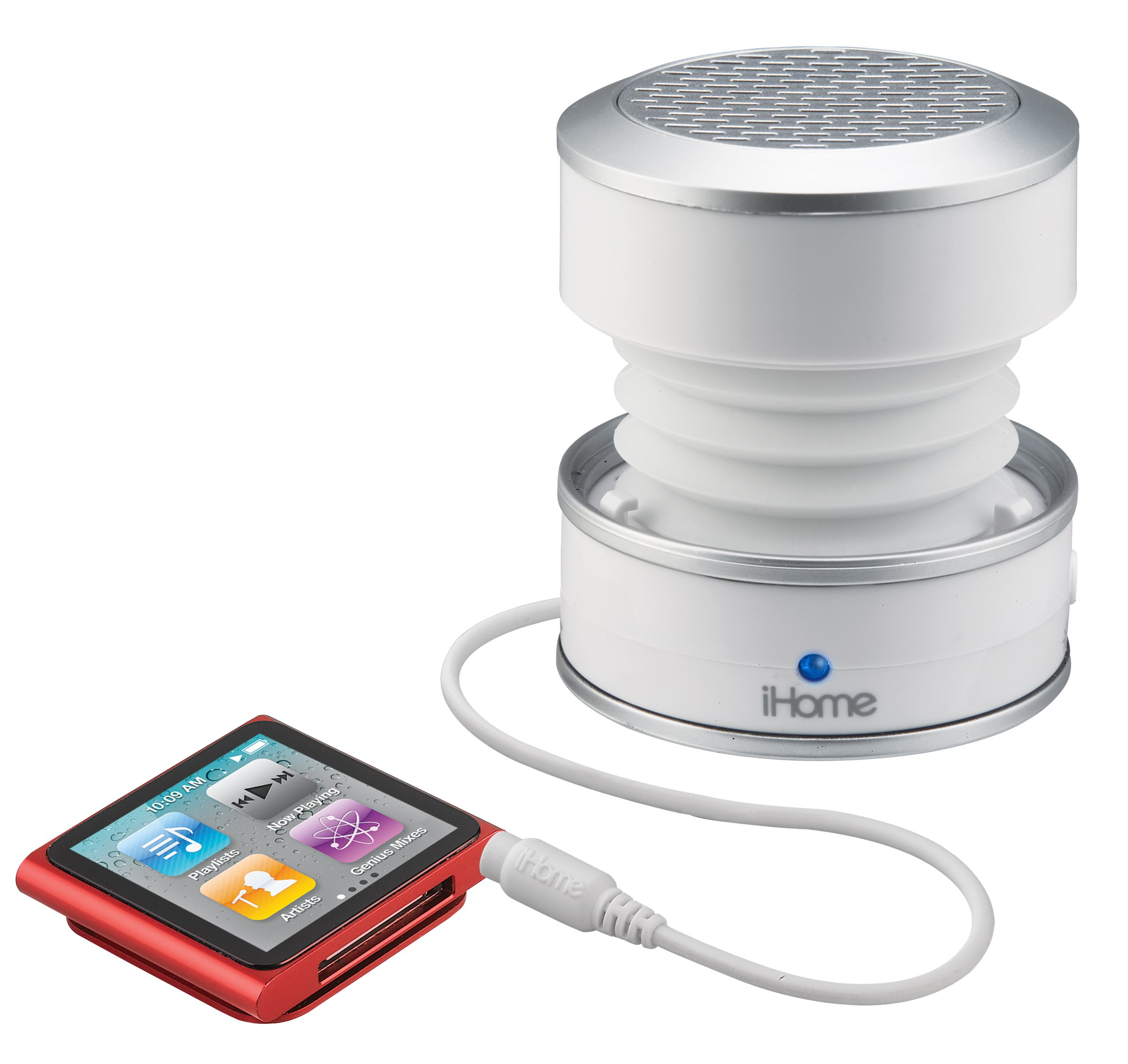 iHome iHM61 3.5mm Aux Color Changing Portable Mono Speaker