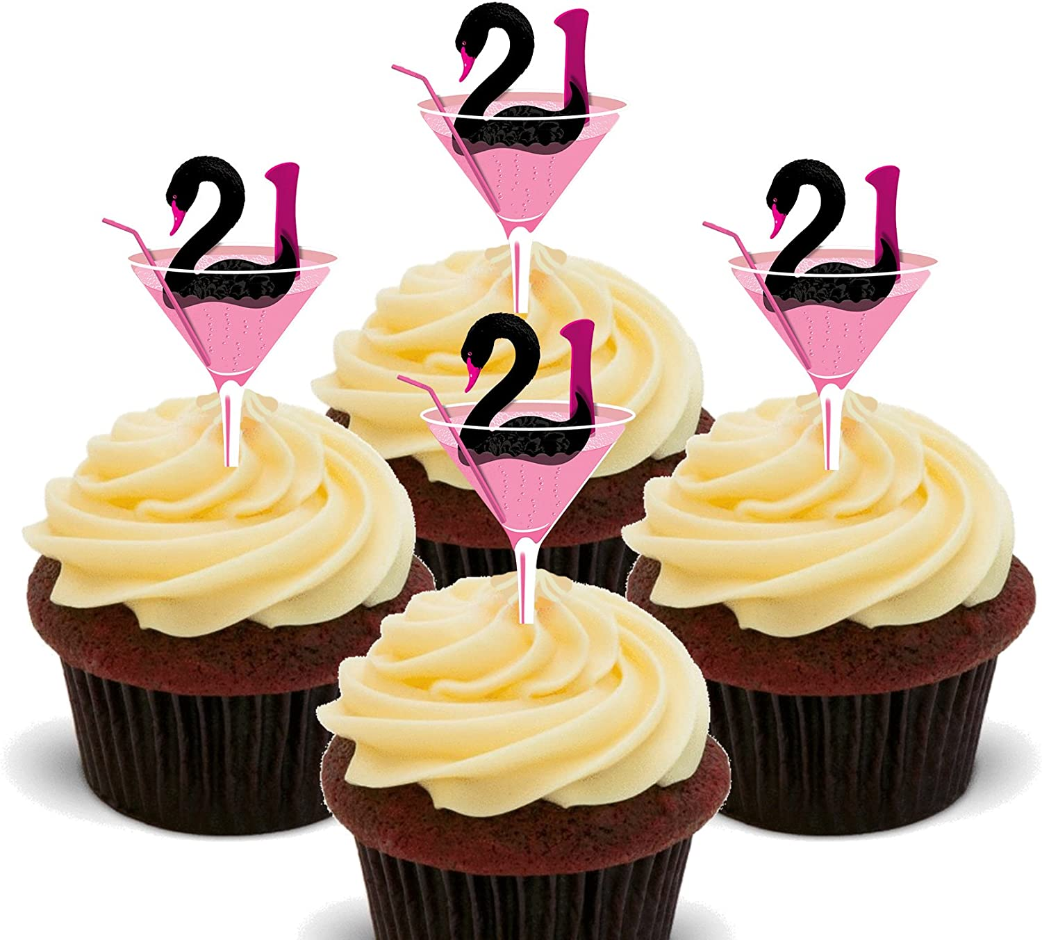 Enjoyable Made4You 21St Birthday Girl Edible Cupcake Toppers Stand Up Personalised Birthday Cards Veneteletsinfo