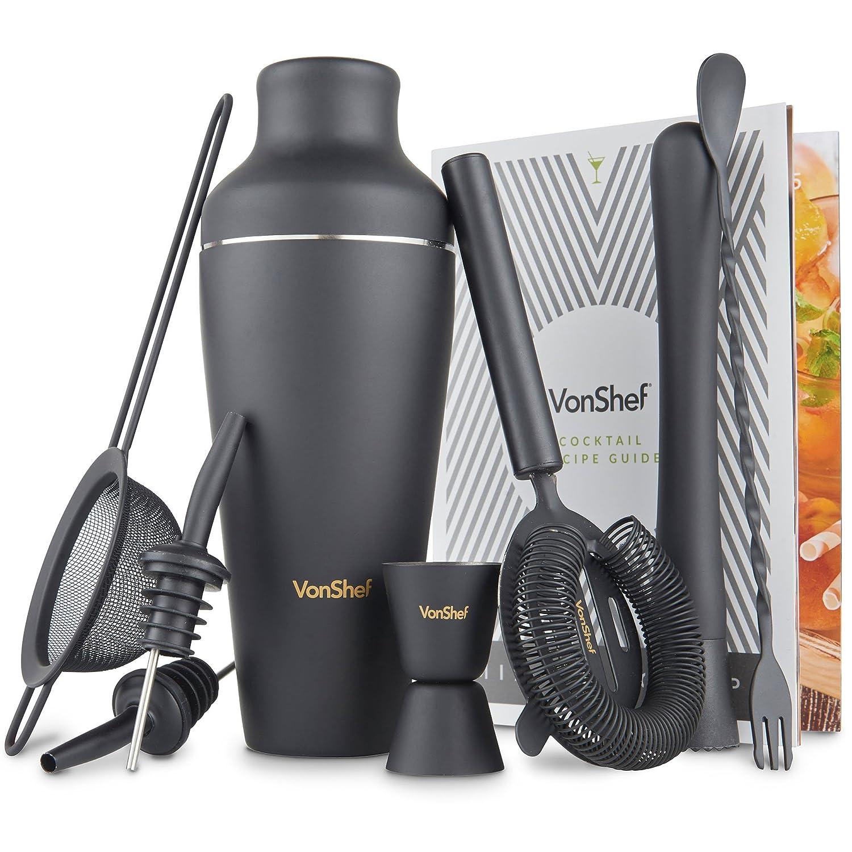Amazon VonShef Premium Matte Black Parisian Cocktail Shaker