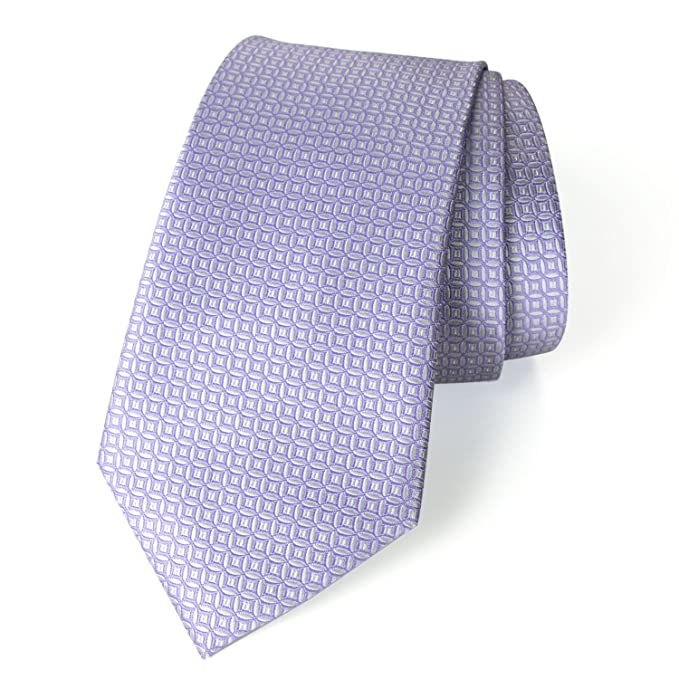 490712240634 Men's Textured Solid Color Microfiber Woven Tie, Lilac at Amazon ...