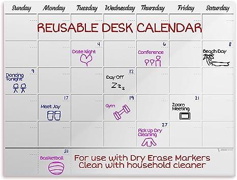 Amazon Com Ergon Office Reusable Desk Calendar 2021 2022 Reusable Desktop Calendar 2021 2022 Calendar Desk Desk Calander 2021 2022 Desk Planner 2021 2022 Monthly Calendar Office Products