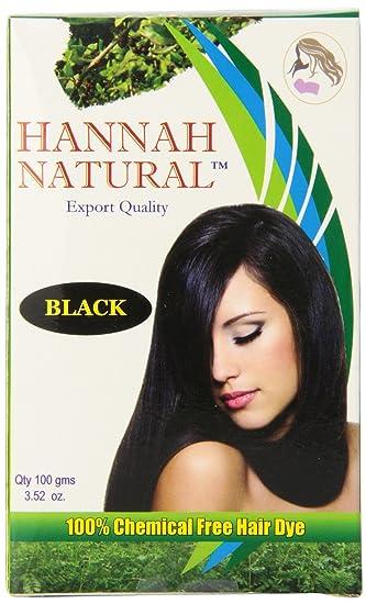 Amazon.com : Hannah Natural 100% Chemical Free Hair Dye, Black ...