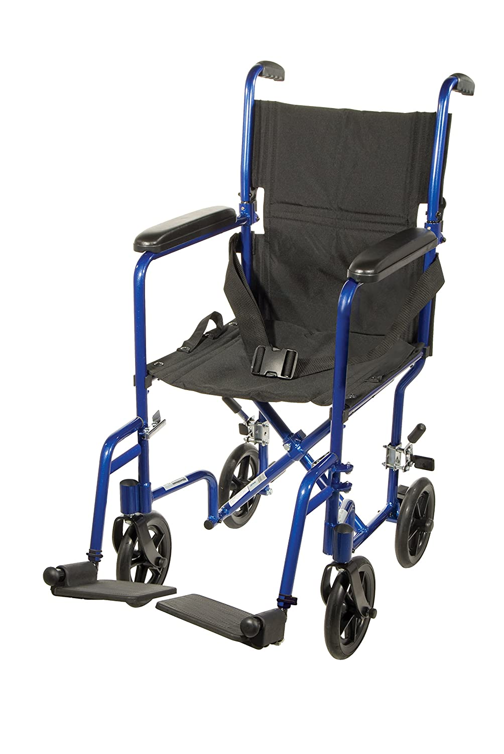 Transport chair amazon - Amazon Com Drive Medical Deluxe Lightweight Aluminum Transport Wheelchair Blue 17 Health Personal Care
