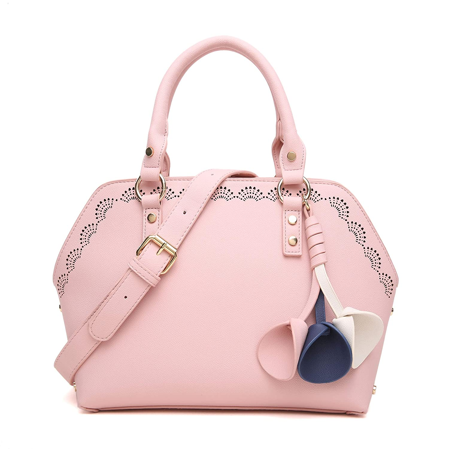 37e9aff84a Aitbags Purses and Handbags for Women Top Handle Satchel Hollow Out Large Tote  with Shoulder Strap Pink  Handbags  Amazon.com