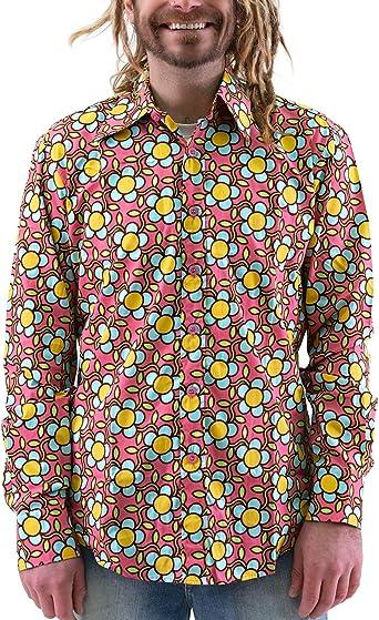 Chenaski Flower Power - Camisa para hombre, diseño de flores ...