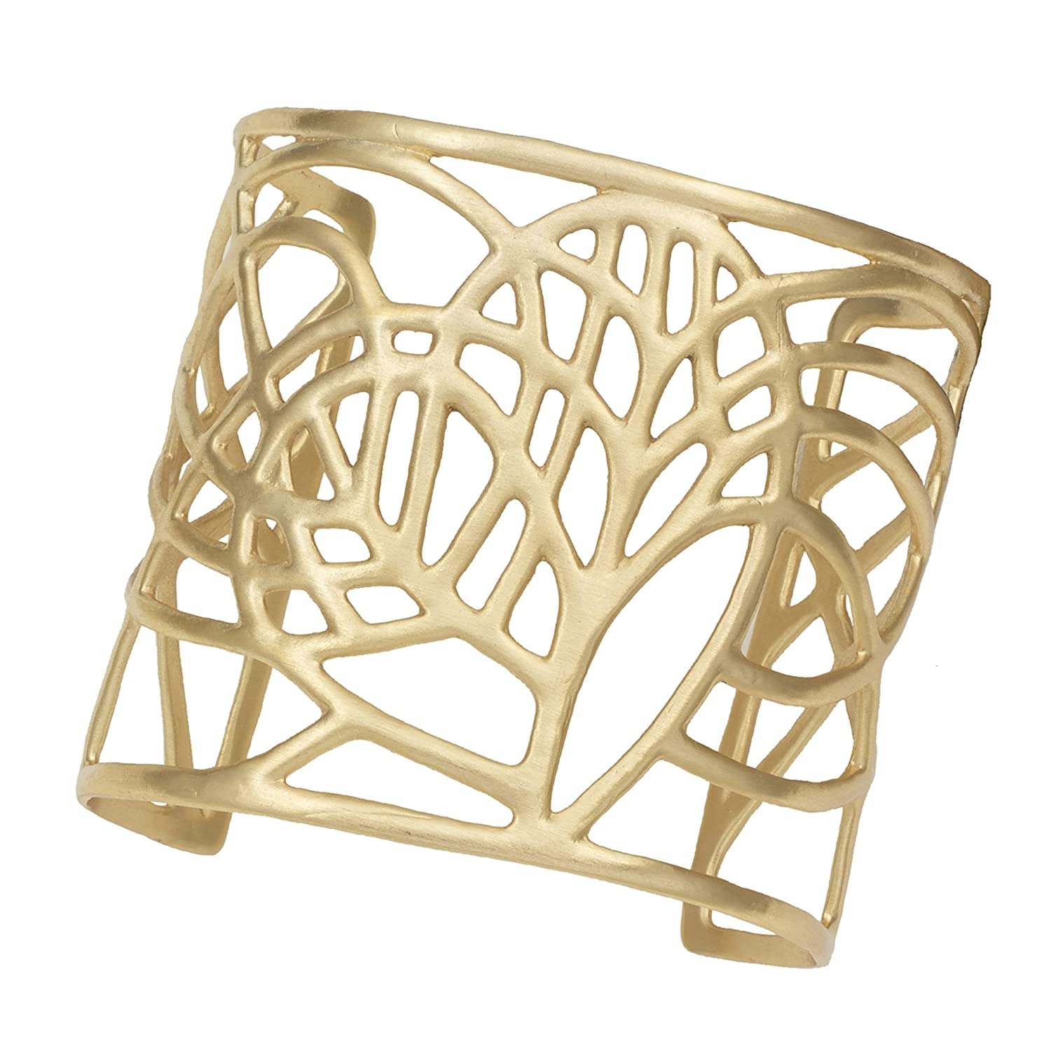 Tree of Life Heart Cuff Bracelet (24k Gold-Plated) by Mercedes Shaffer