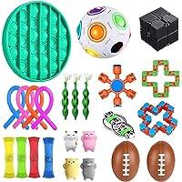 jingjing Obstakel Sensory Fidget Toys Set, 23 stuks, Stress Relief en Anti-Angst Tools Bundel voor kinderen en…