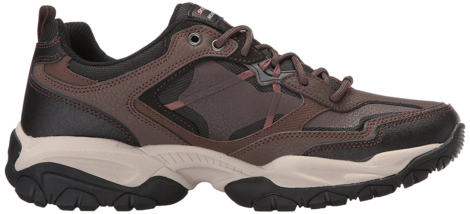 Skechers Sport Men's Sparta 2.0 Wide Oxford, Taupe/Black, 9 2E US