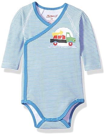 Baby Boys' Printed Long Sleeve Wrap Body
