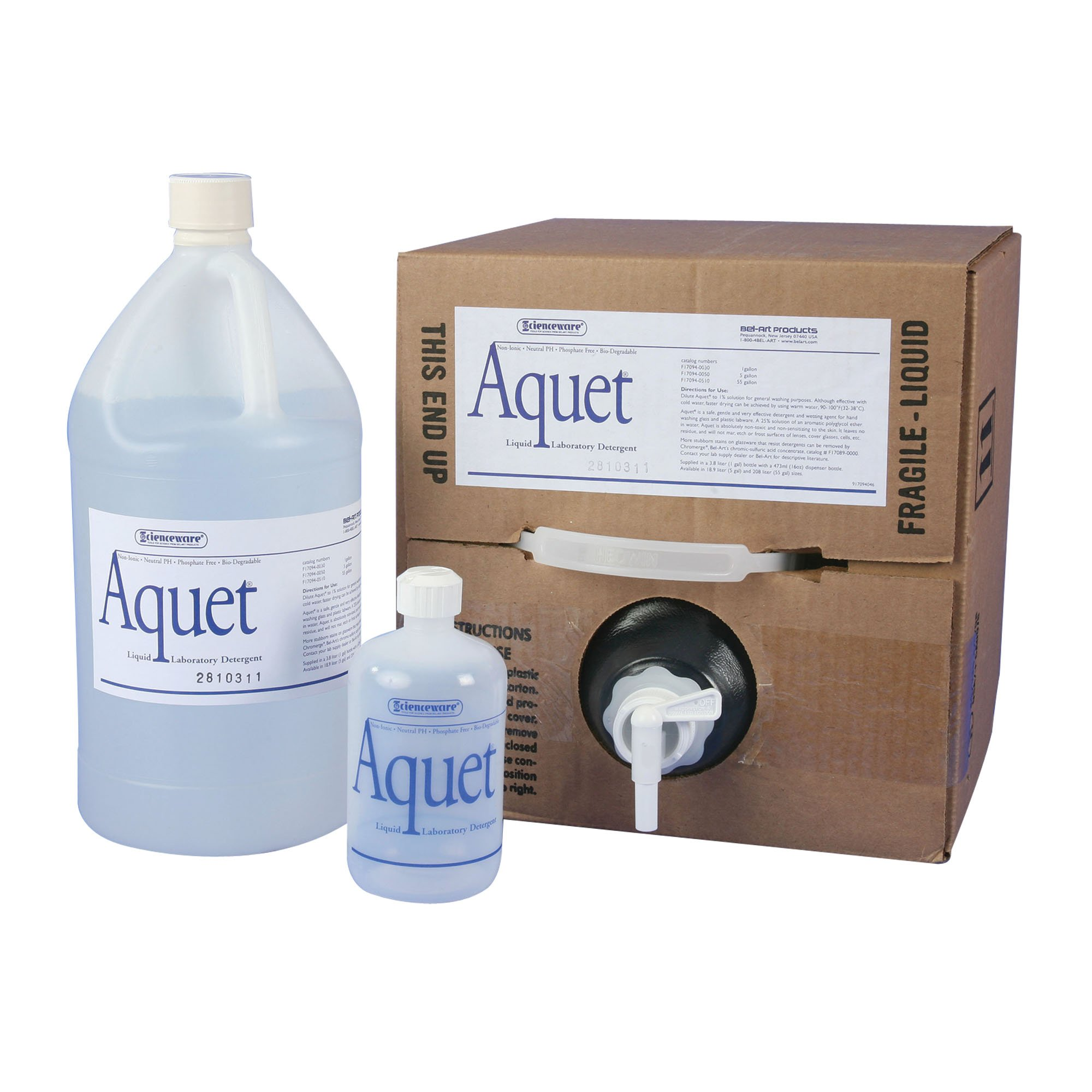 Bel-Art F17094-0050 Aquet Detergent for Glassware and Plastics; 20 Liter Cubitainer by SP Scienceware