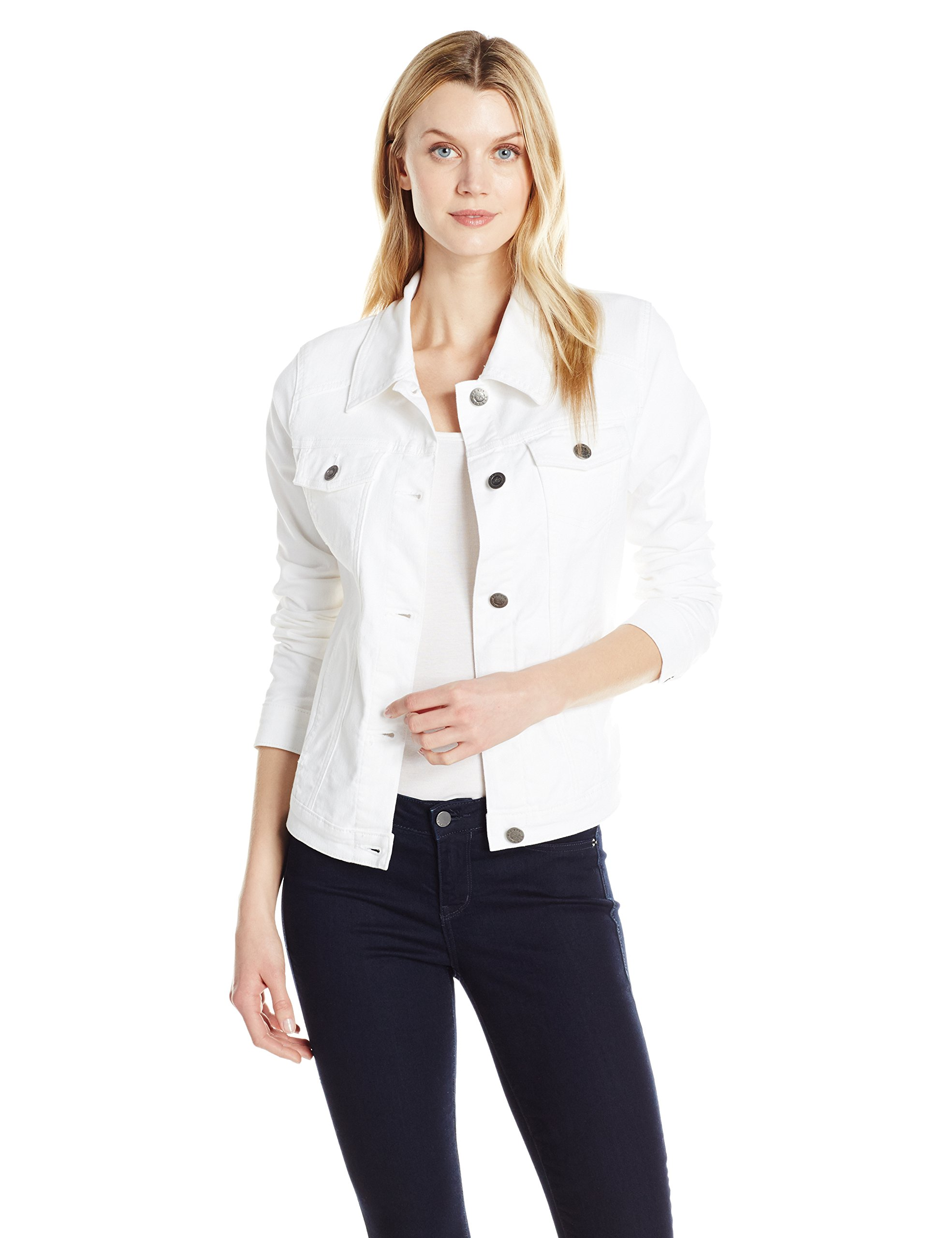 Riders by Lee Indigo Women's Denim Jacket, White, M