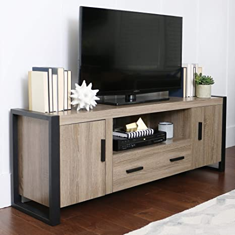 Amazon Com We Furniture 60 Inch Urban Blend Wood Tv Stand Kitchen