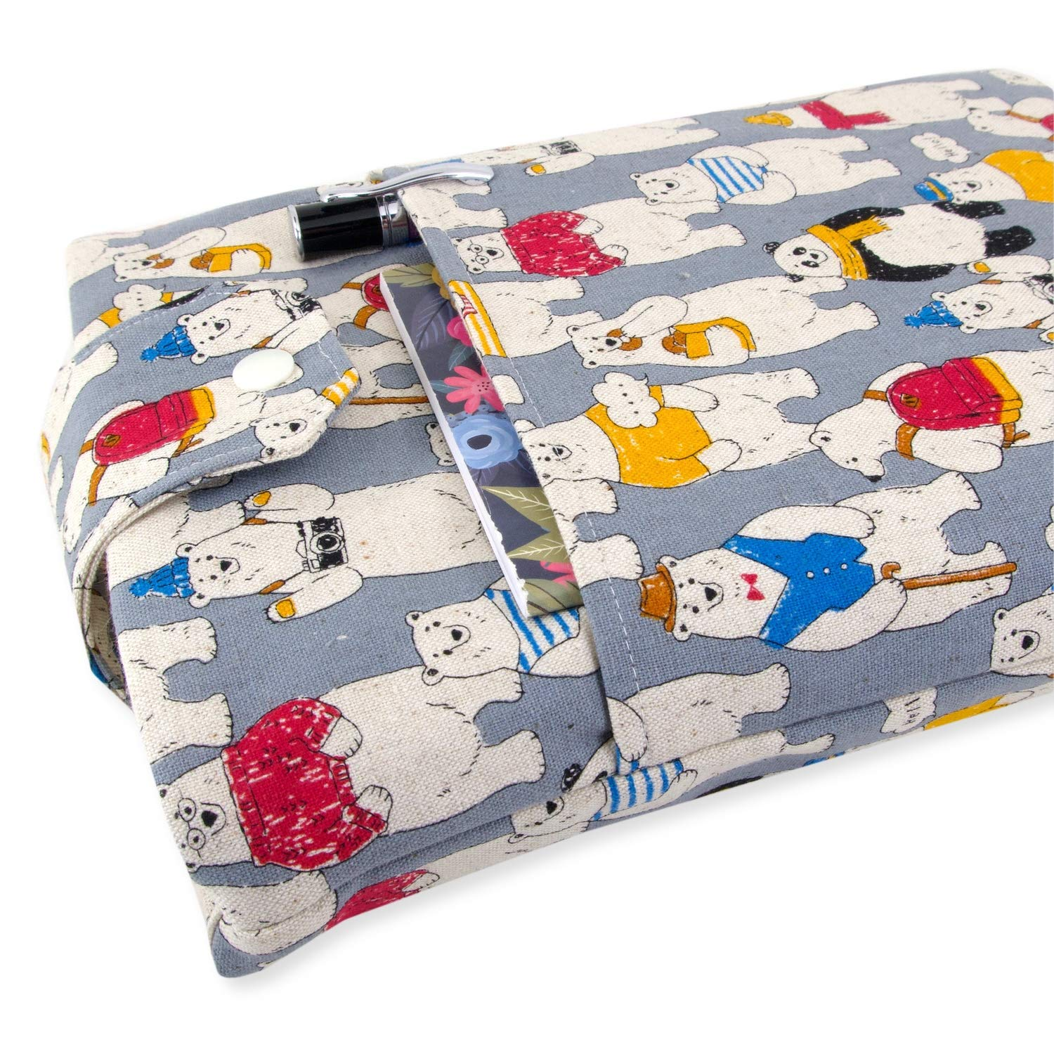 Padded Perfect For Hardbacks Or Large Paperbacks Great Book Lover Gift Donkey Fabric Book Sleeve