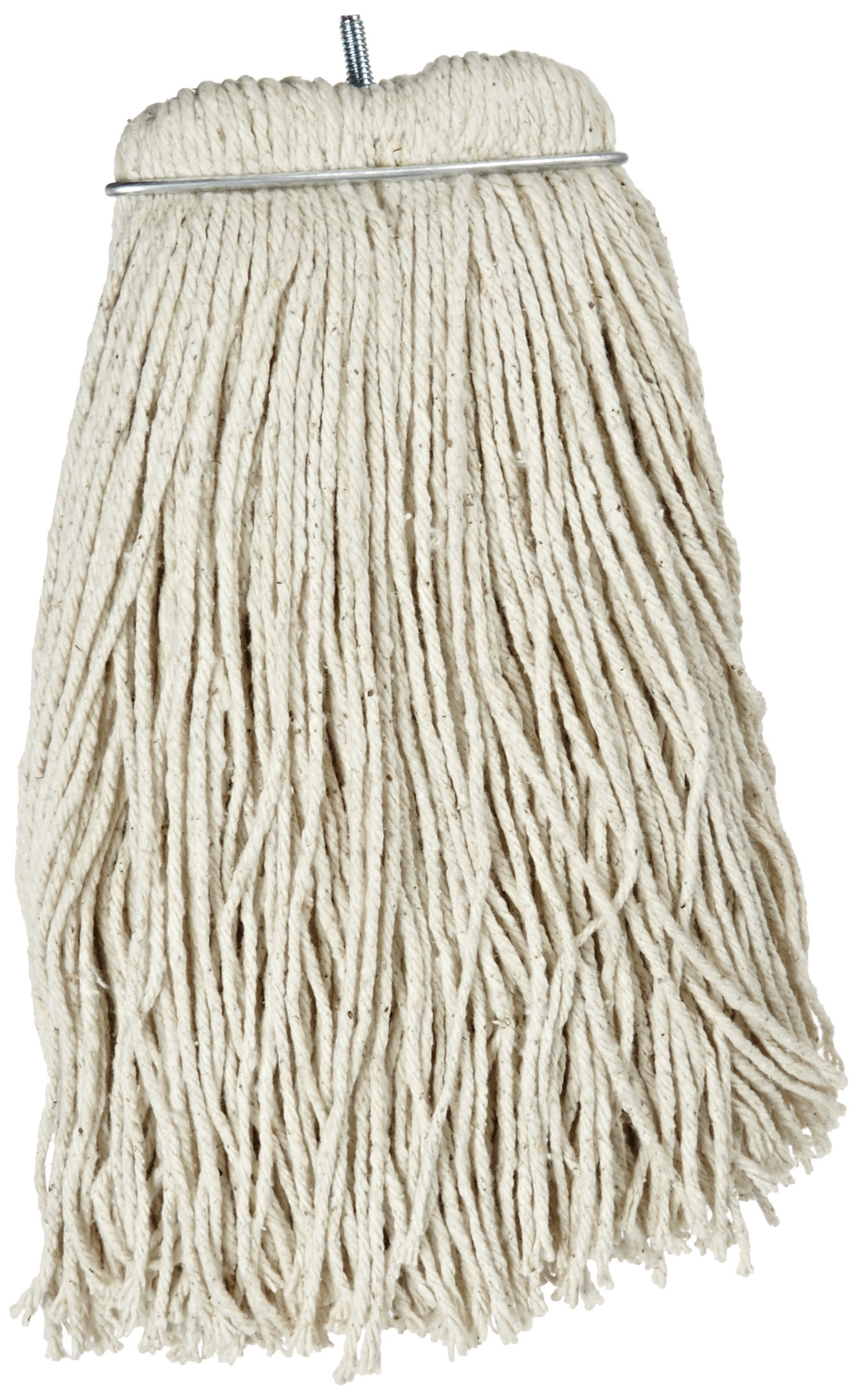 Impact 12116 Layflat Screw Type Cut End Cotton Wet Mop Head, Regular, 16 oz, White (Case of 12) by Impact Products (Image #1)