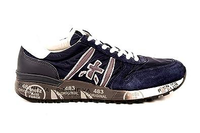 PREMIATA Scarpe Sneakers Blu Uomo Made in Italy Lander 3247