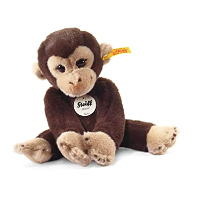 Steiff Little Friend Koko Monkey Plush, Dark Brown: Toys & Games