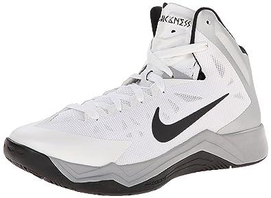1ab4ff596052 NIKE Zoom Hyperquickness TB Mens Basketball Shoes 599420-100 White 14 M US