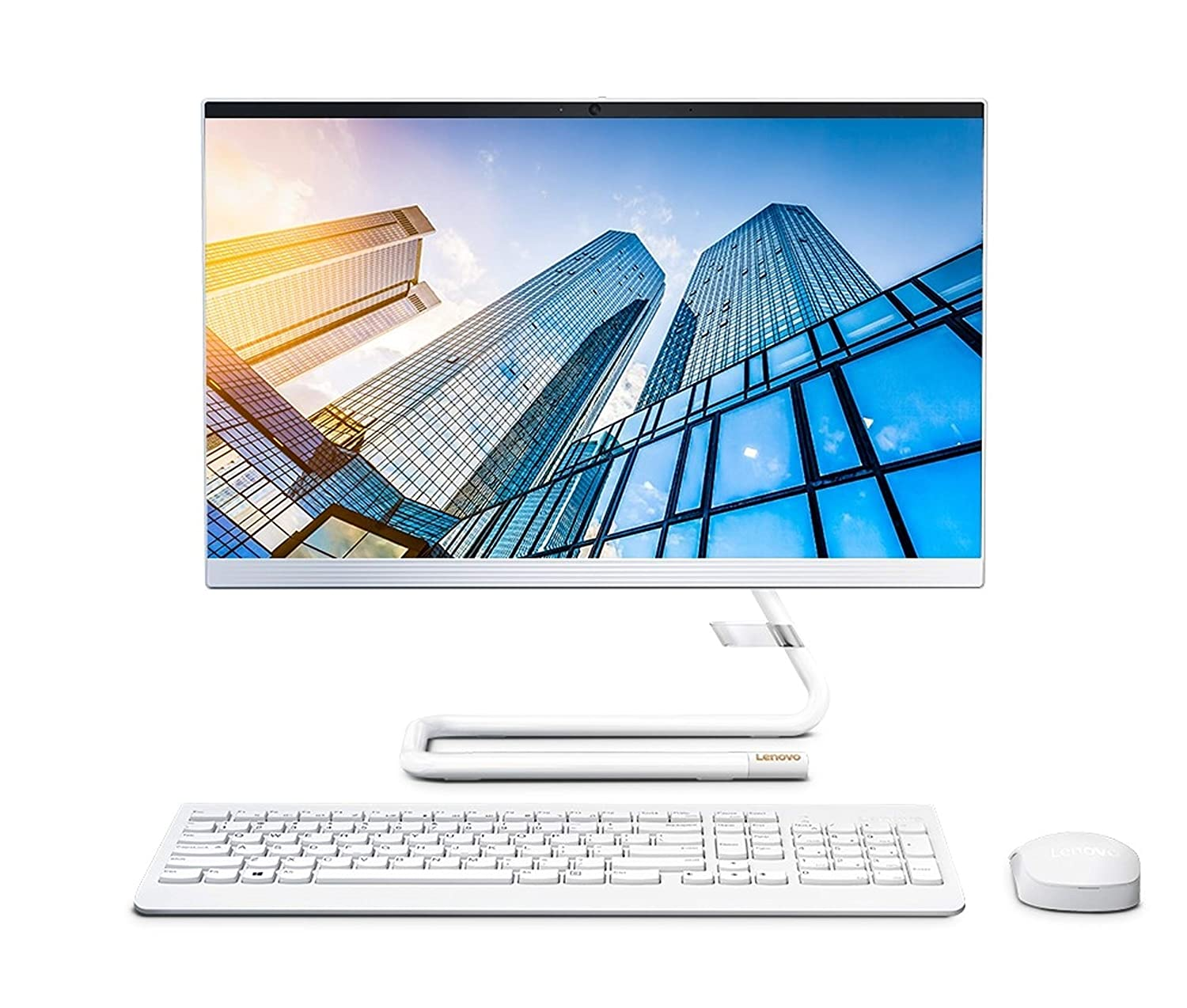 Lenovo IdeaCentre AIO 3 21.5-inch Full HD All in One Desktop (AMD Ryzen 3/8GB/1TB HDD/Windows 10/MS Office 2019/Integrated AMD Radeon Graphics/JBL Speakers), Foggy White (F0EX0082IN)
