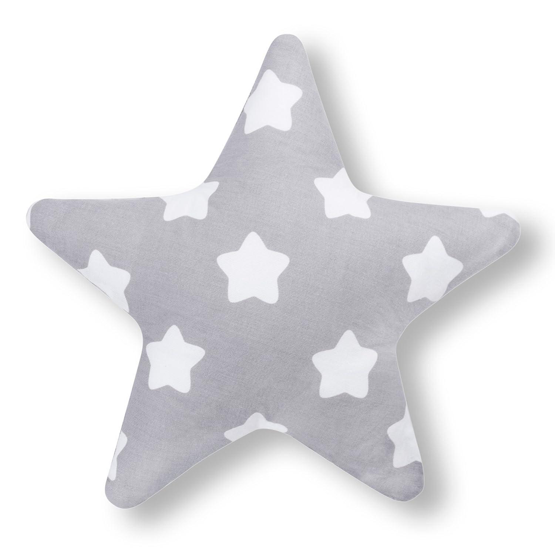 Amilian Kissen Stern Lebkuchen Grau Dekokissen Kuschelig Flauschig ca. 28 cm Amilian®