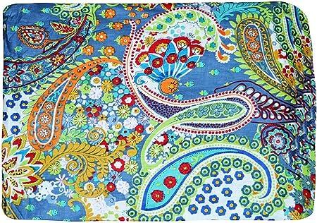 Indio tradicional 100% Tela de algodón puro Diseño de flor de hoja ...