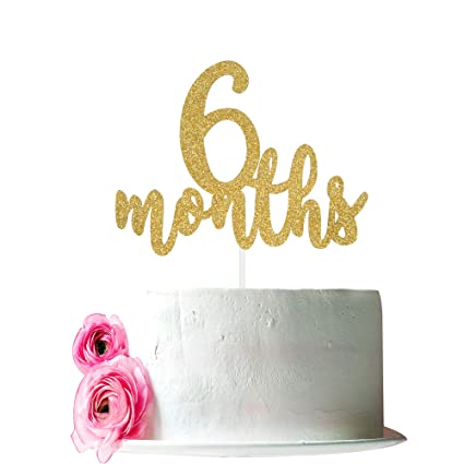 Amazon 6 Months Cake Topper Half 1 2 Birthday Decorations