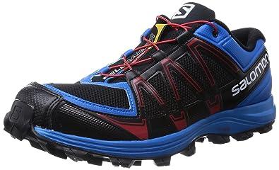 Salomon Fellraiser, Chaussures de Trail Homme, Multicolore (Black/Methyl  Blue/Quick