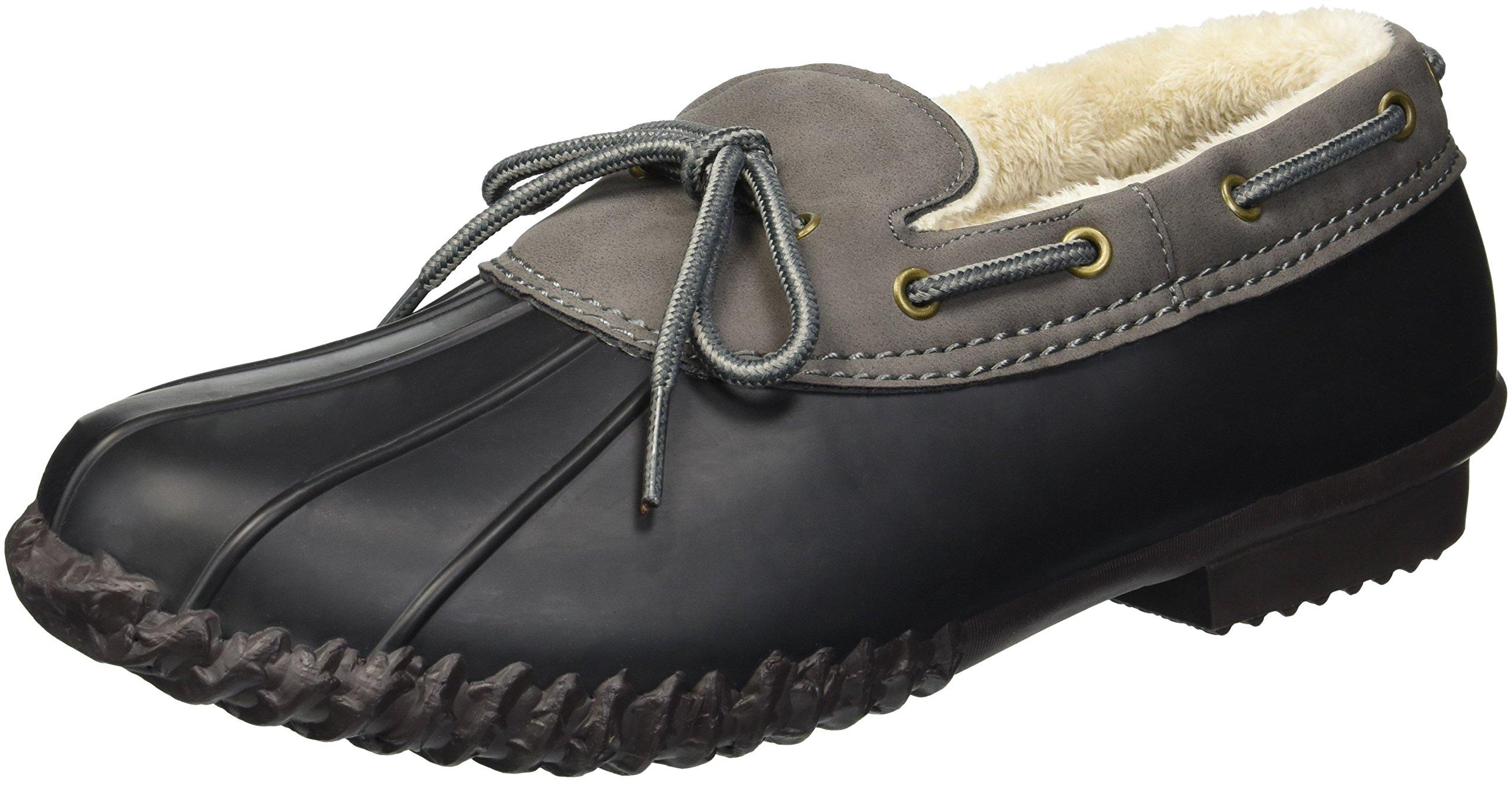 JBU by Jambu Women's Gwen Weather Ready Rain Shoe, Black/Charcoal, 7.5 Medium US