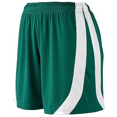 Augusta Sportswear Big Girl's Triumph Short, DARK GREEN/WHITE, Large