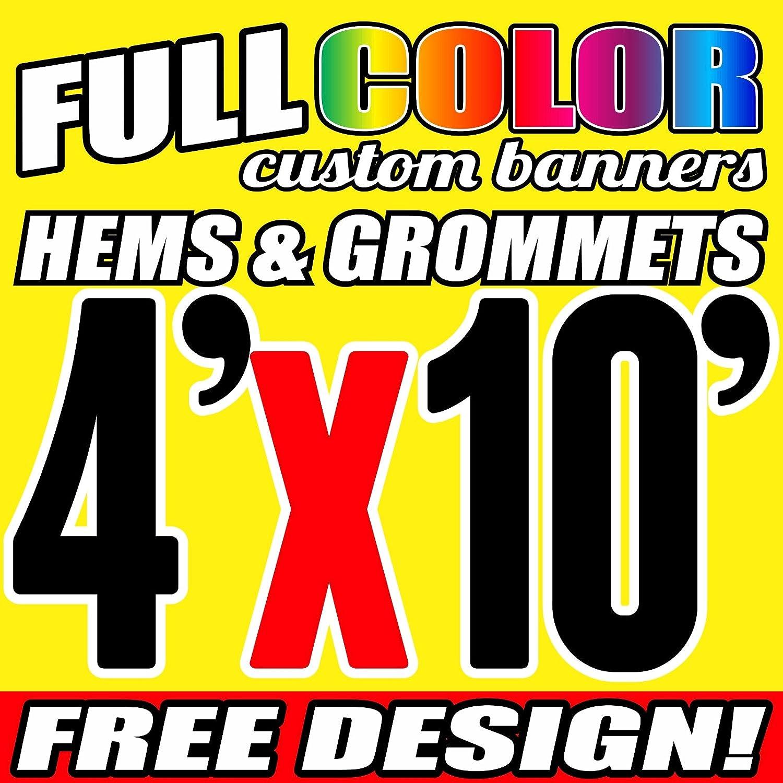 Same Day Shipping 4/' x 6/' Full Color Custom Banner 13oz Vinyl