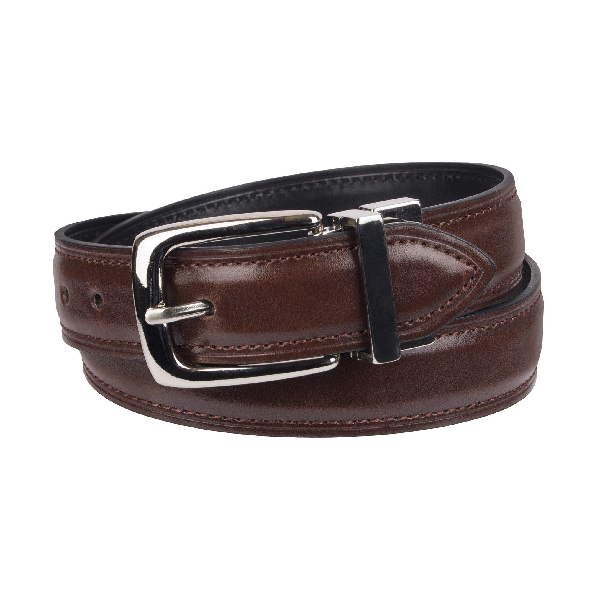 Chaps Big Boy's 1'' Reversible Dress Casual Belt brown/black, Small (22-24)