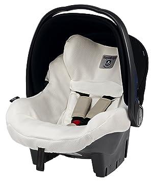 Peg-Pérego Clima Cover - Funda de verano para silla de coche, grupo 0, color blanco