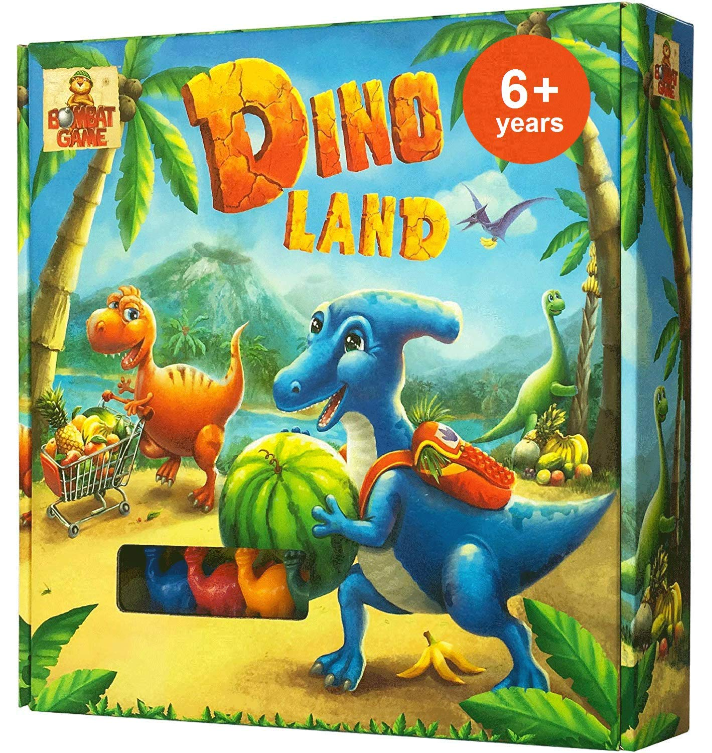 Dino Land - Action and Adventure Dinosaur Games - Best Board Games for Kids  6 and up - Kids Board Games for Families