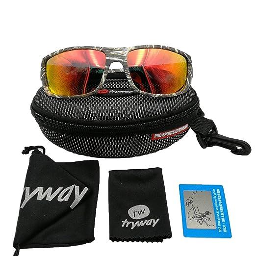 Tryway meilleure qualité de lunettes de soleil pour homme Sport Outdoor Camouflage Cadre Marron UV Lunettes polarisées Cheap classique pour homme Frames Goggle Cool Pêche Lunettes Design Polaroid Lune JUmBylYj